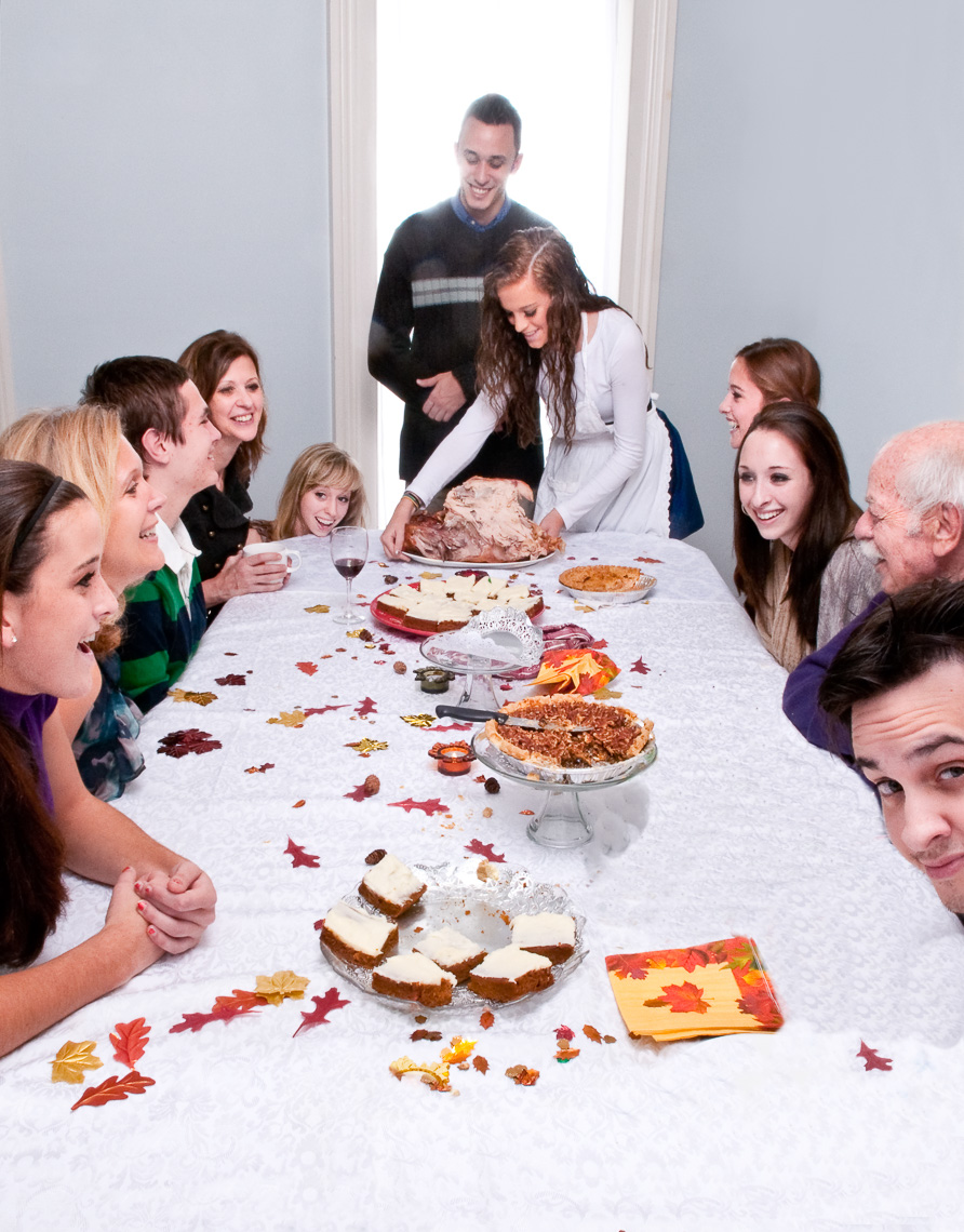 Rockwell Thanksgiving Homage